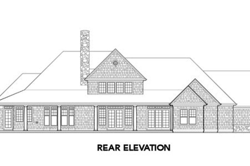 Traditional Exterior - Other Elevation Plan #48-347 - Houseplans.com