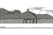 Farmhouse Style House Plan - 3 Beds 3 Baths 2568 Sq/Ft Plan #124-195 Exterior - Other Elevation