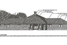 Farmhouse Exterior - Other Elevation Plan #124-195
