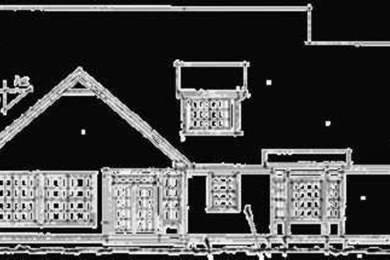 European Exterior - Rear Elevation Plan #20-198 - Houseplans.com