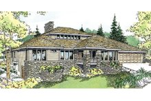 Home Plan - Ranch Exterior - Front Elevation Plan #124-522