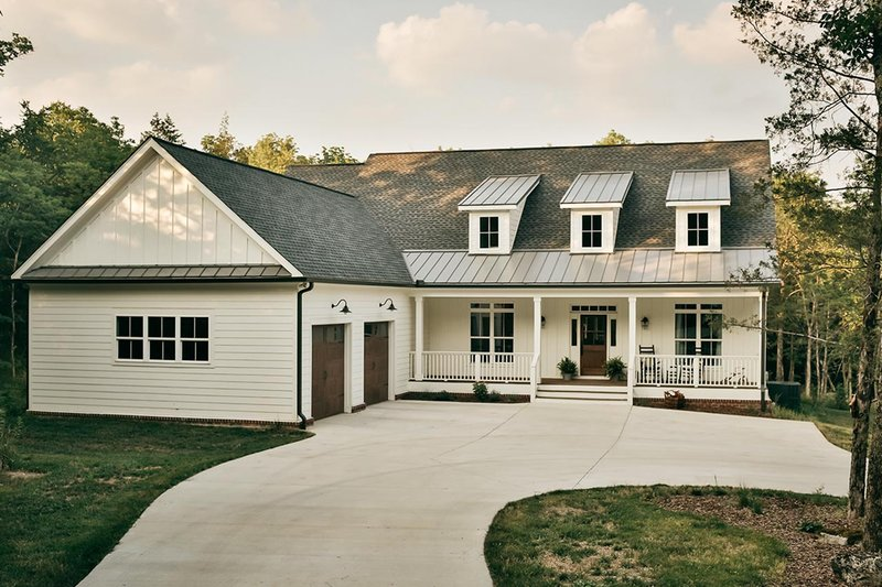 Architectural House Design - Country Exterior - Front Elevation Plan #17-2148