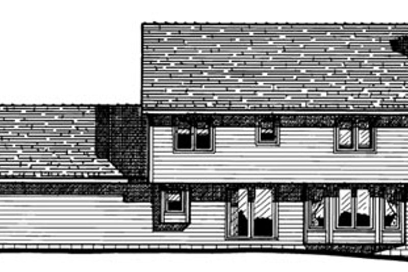 Colonial Exterior - Rear Elevation Plan #20-214 - Houseplans.com