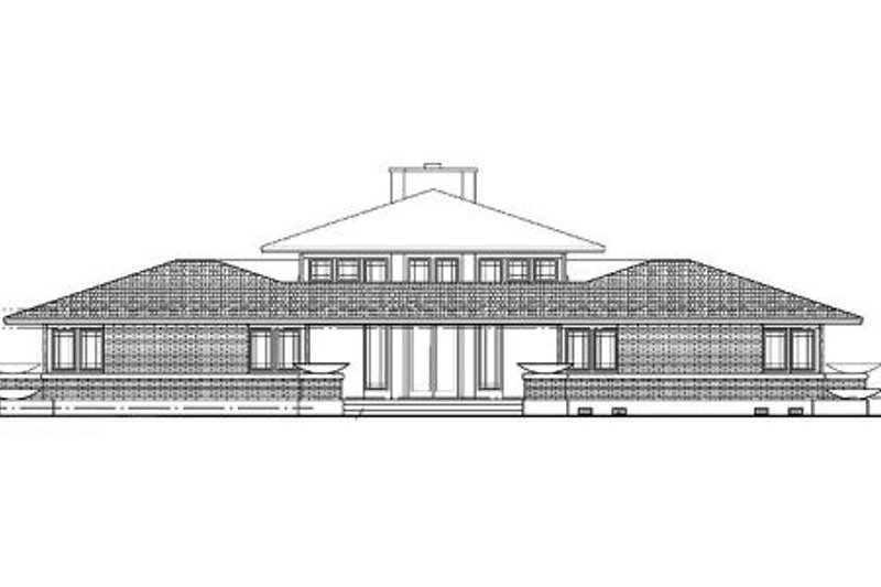 Prairie Exterior - Rear Elevation Plan #72-153 - Houseplans.com