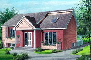 Ranch Exterior - Front Elevation Plan #25-1133