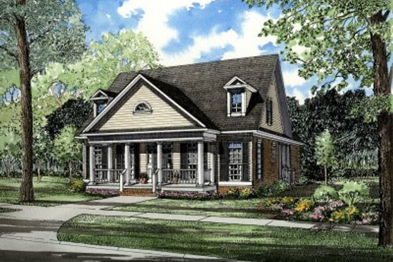 Architectural House Design - Traditional Exterior - Front Elevation Plan #17-2052