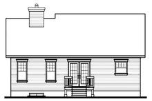 Home Plan - Cottage Exterior - Rear Elevation Plan #23-349