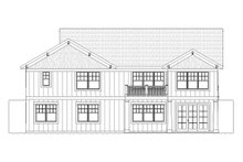 Dream House Plan - Traditional Exterior - Rear Elevation Plan #901-109