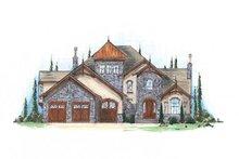 House Plan Design - European Exterior - Front Elevation Plan #5-418