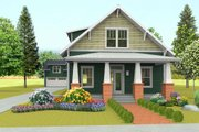 Craftsman Style House Plan - 5 Beds 4 Baths 2668 Sq/Ft Plan #461-42 Exterior - Front Elevation