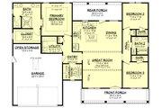 Farmhouse Style House Plan - 3 Beds 2 Baths 1740 Sq/Ft Plan #430-241 Floor Plan - Main Floor
