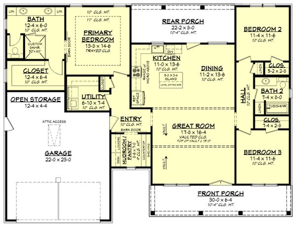 Farmhouse Floor Plan - Main Floor Plan #430-241