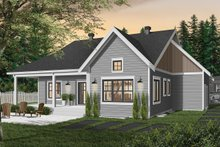 Farmhouse Exterior - Rear Elevation Plan #23-2679
