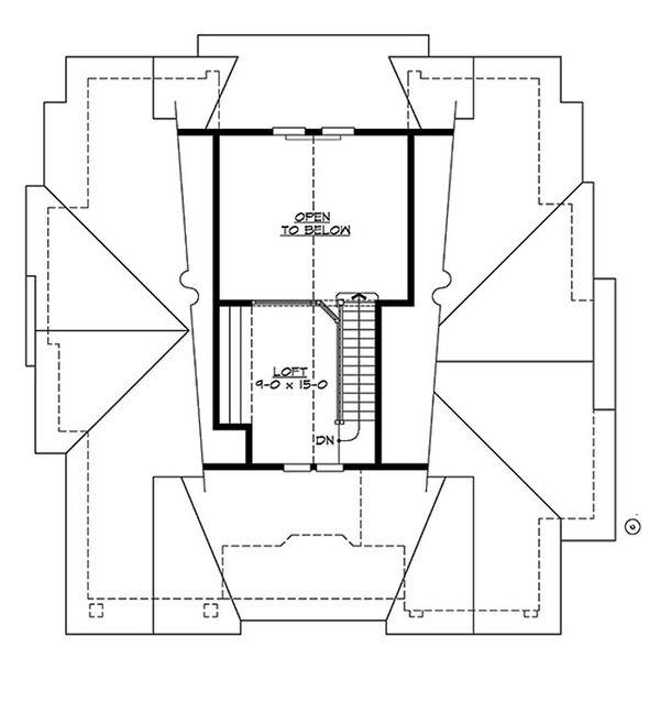 Craftsman Floor Plan - Upper Floor Plan #132-197