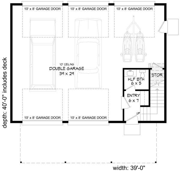 Contemporary Floor Plan - Main Floor Plan Plan #932-297