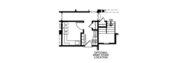 Dream House Plan - Optional Stairway
