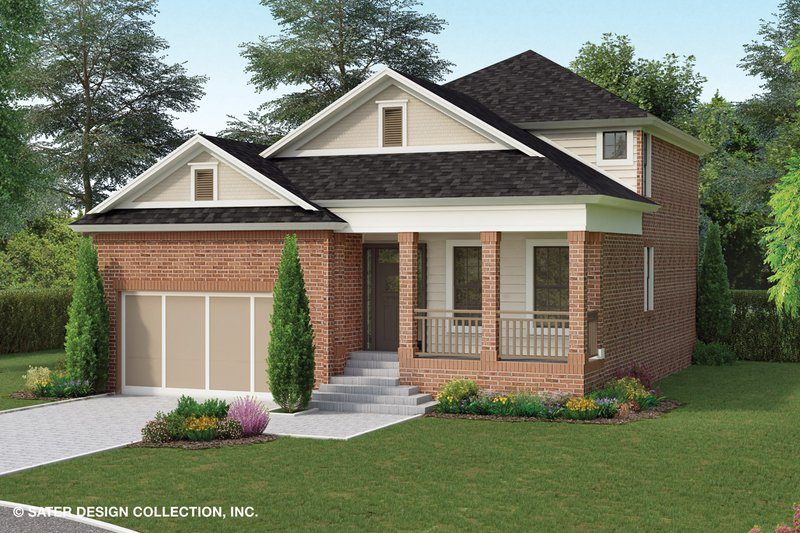Home Plan - Traditional Exterior - Front Elevation Plan #930-497