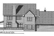 Southern Exterior - Rear Elevation Plan #70-526