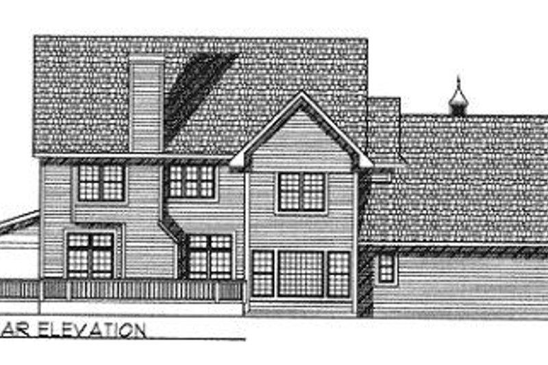 Southern Exterior - Rear Elevation Plan #70-526 - Houseplans.com