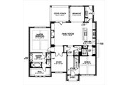 European Style House Plan - 4 Beds 3.5 Baths 3367 Sq/Ft Plan #449-5 Floor Plan - Main Floor Plan
