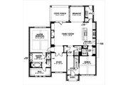 European Style House Plan - 4 Beds 3.5 Baths 3367 Sq/Ft Plan #449-5 Floor Plan - Main Floor Plan