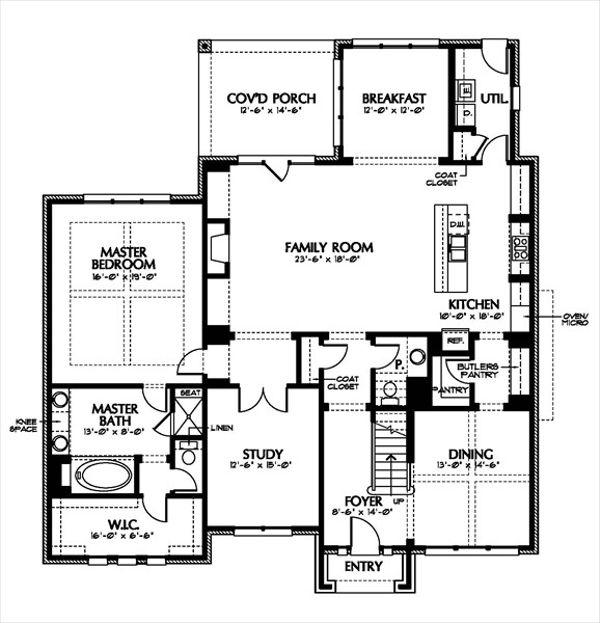 European Floor Plan - Main Floor Plan Plan #449-5