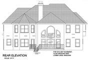 European Style House Plan - 5 Beds 4 Baths 3500 Sq/Ft Plan #56-225 Exterior - Rear Elevation