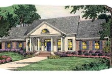Dream House Plan - Colonial Exterior - Front Elevation Plan #406-260
