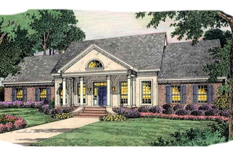 Colonial Exterior - Front Elevation Plan #406-260 - Houseplans.com