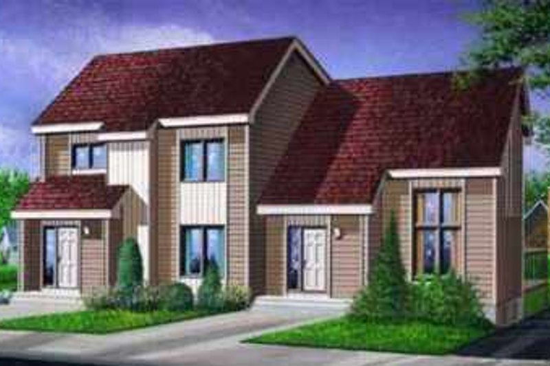 Modern Style House Plan - 3 Beds 1.5 Baths 2496 Sq/Ft Plan #25-323 Exterior - Front Elevation