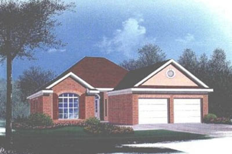 Traditional Style House Plan - 3 Beds 2 Baths 1525 Sq/Ft Plan #15-104 Exterior - Front Elevation
