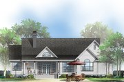 Country Style House Plan - 3 Beds 2 Baths 1677 Sq/Ft Plan #929-528 Exterior - Rear Elevation