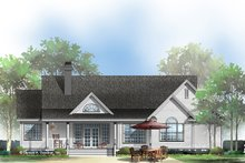 Country Exterior - Rear Elevation Plan #929-528