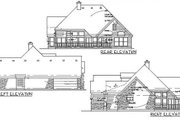 Country Style House Plan - 3 Beds 2 Baths 1715 Sq/Ft Plan #120-158 Exterior - Other Elevation