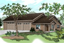 Dream House Plan - Craftsman style garage