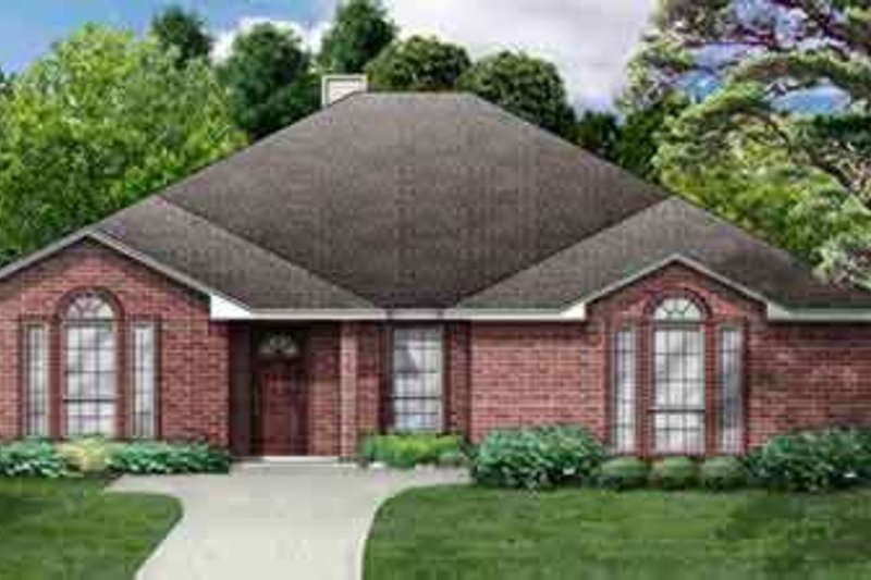 Traditional Exterior - Front Elevation Plan #84-176 - Houseplans.com