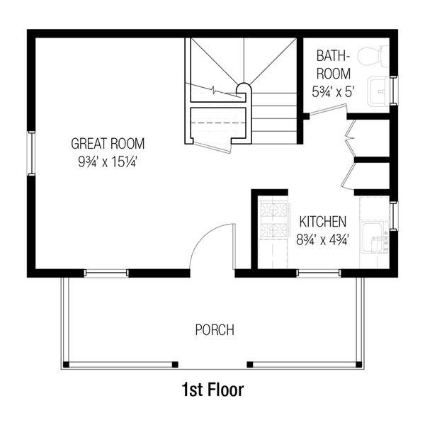 Cottage Floor Plan - Main Floor Plan #915-13