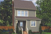 Colonial Exterior - Rear Elevation Plan #48-1011