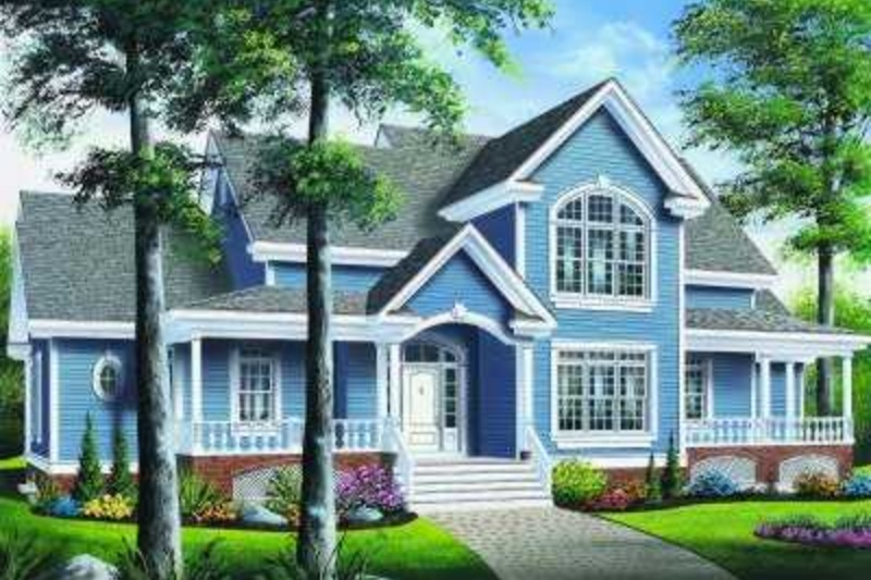 Traditional Exterior - Front Elevation Plan #23-329