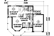Victorian Style House Plan - 3 Beds 1 Baths 1534 Sq/Ft Plan #25-4768 Floor Plan - Main Floor Plan