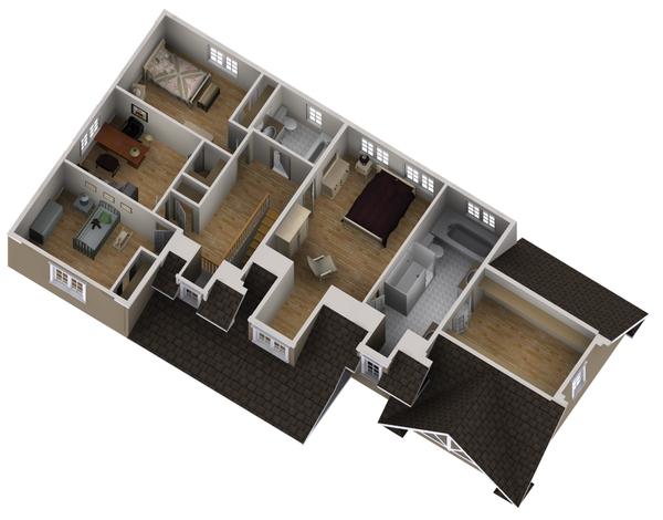 Country Floor Plan - Upper Floor Plan #25-4559