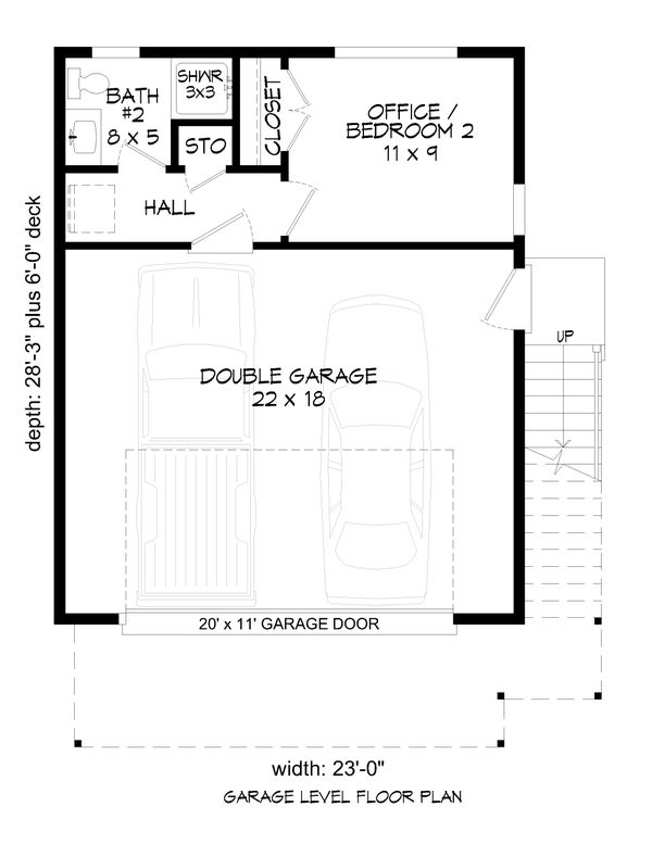 Contemporary Floor Plan - Main Floor Plan #932-257