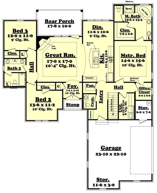 European Floor Plan - Main Floor Plan Plan #430-119