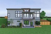 Contemporary Style House Plan - 3 Beds 2.5 Baths 2737 Sq/Ft Plan #1070-56 Exterior - Rear Elevation