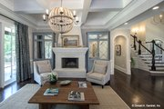 European Style House Plan - 5 Beds 4 Baths 4221 Sq/Ft Plan #929-855 Interior - Family Room