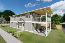 Architectural House Design - Craftsman Exterior - Covered Porch Plan #126-202