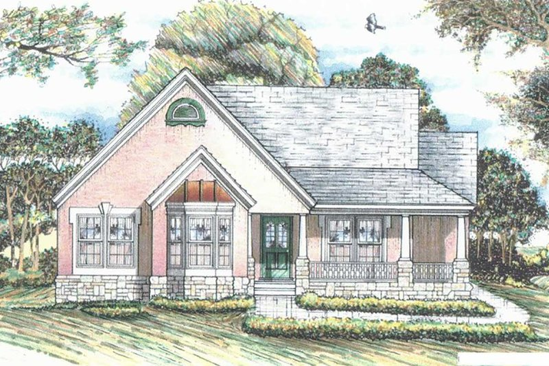 House Plan Design - Traditional Exterior - Front Elevation Plan #405-340