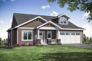 Dream House Plan - Craftsman Exterior - Front Elevation Plan #124-1164