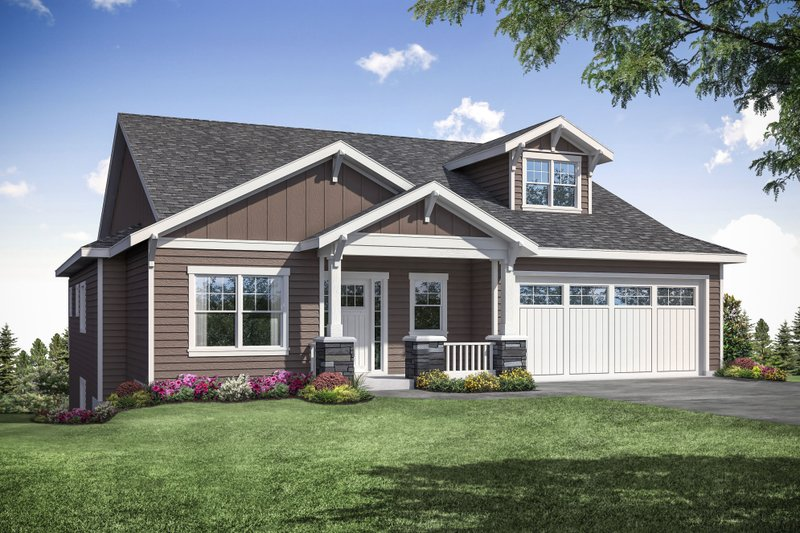 Craftsman Exterior - Front Elevation Plan #124-1164