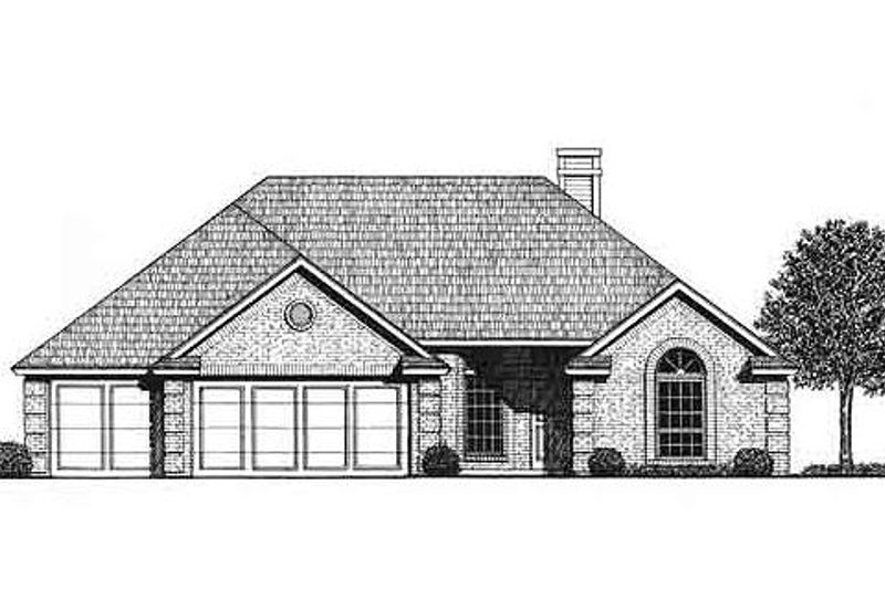 Traditional Style House Plan - 4 Beds 2.5 Baths 1899 Sq/Ft Plan #310-780 Exterior - Front Elevation